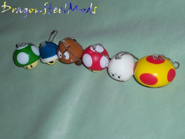 Squishy Super Mario Maker : Squishy Super Mario Keychains from GizGeek DragonSteelMods