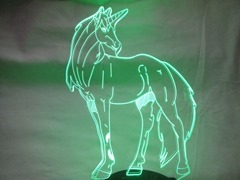Video Review: WHATOOK 3D Unicorn Optical Illusion LED Light